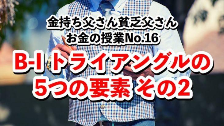 B-Iトライアングルの5つの要素その2〜お金の授業No.16〜